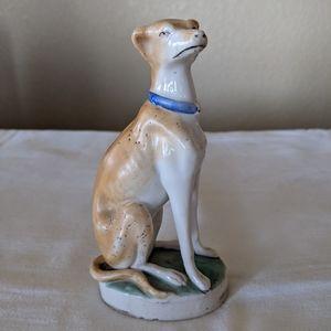 Vintage Greyhound Figurine Unmarked Staffordshire?